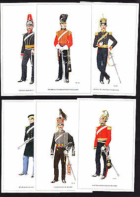 SET OF 6 Modern Yeoman Cavalry Postcards Wiltshire Forresters Salopian Yorkshire