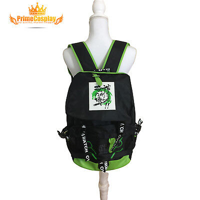 [PrimeCosplay] Overwatch GENJI Backpack Bag game back pack Green Christmas, USA