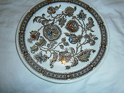 """Vintage Ridgway """"jacobean"""" Ironstone England Butter Or Side Plate- 18 Cms Across"""