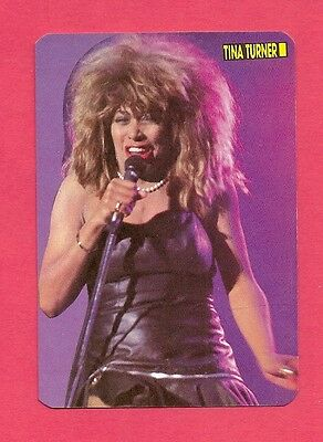 Tina Turner Music Collectible Card 1988; Pop Singer; R&B; Soul; Rock & Roll