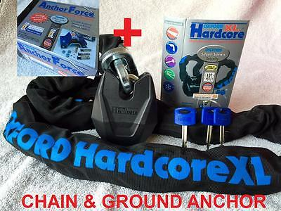 Oxford XL Hardcore Chain, Lock And Anchor FORCE AnchorForce Package Thatcham app