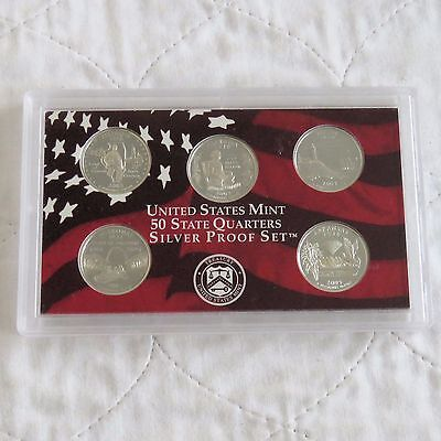USA 2003 s 5 COIN STATE QUARTERS SILVER PROOF YEAR SET  - sealed