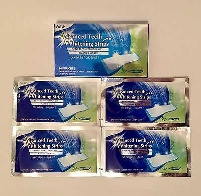 Professional Advanced Teeth Whitening White Strips Pro Effects - 4 Pouches