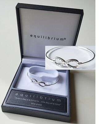 Equilibrium Eternity Bangle - Everyday is a Miracle - Inspirational Gift Boxed