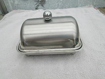 Stainless Steel Butter Dish Tray With Lid with bun feet