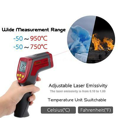 Non-Contact IR Laser Infrared LCD Digital Thermometer Gun Temperature Meter M8W0