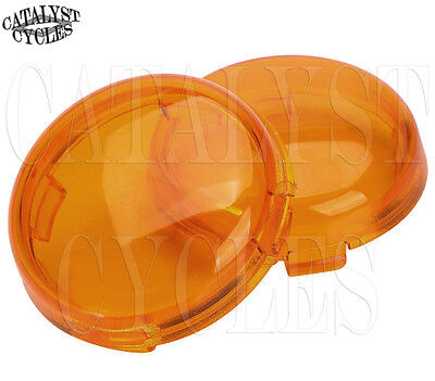 Amber Replacement Lens for Harley Turn Signal Lens Set - Deuce Style Signal Lens