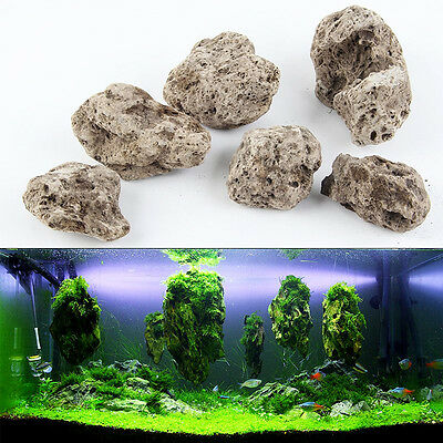 Avatar Floating Real Rocks Aquarium Water Plant fish tank Aquatic Landscape