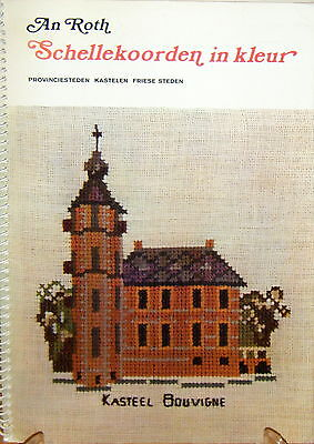 Bell Pulls in Colour - Schellekoorden - Dutch counted cross stitch booklet- used