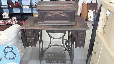 6Antique Sewing Machine New Home