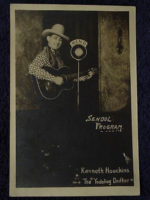 1930s KENNETH HOUCHINS Yodeling Drifter WIND RADIO Photo COUNTRY SINGER w/Guitar