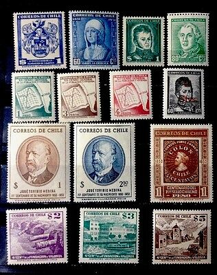 CHILE Stamps 1952//1953 MNH