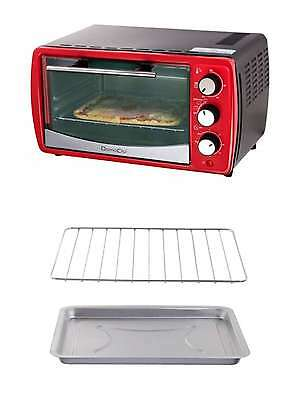 Domoclip Doc158 Mini Baking Oven Camping Pizza Red Kitchen