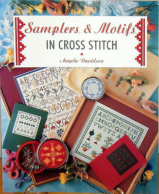 Samplers & Motifs in Cross Stitch book by Angela Davidson - used