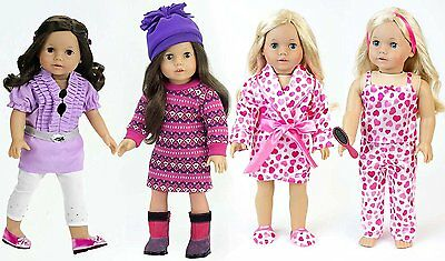 "New Sophia Doll Clothes, 3 Outfits Set Fits 18"" American Girl Type Doll, SAVE!"