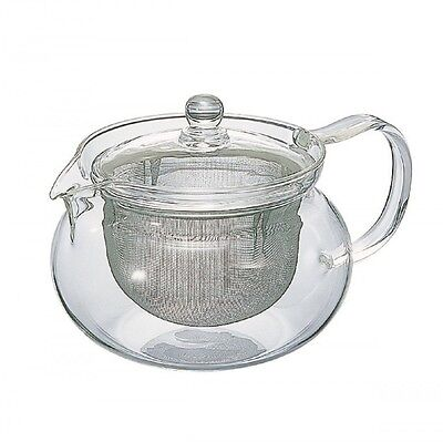Hario CHJMN-70T 700 ml 1-Piece Glass Chacha Kyusu Maru Tea Pot F/S from Japan