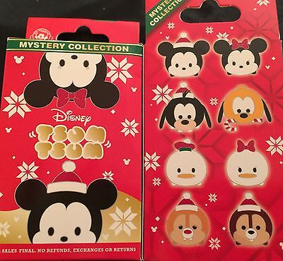 Disney Tsum Tsum Blind Box Open Edition Mystery Collection Holiday Pin Set 2 Pin