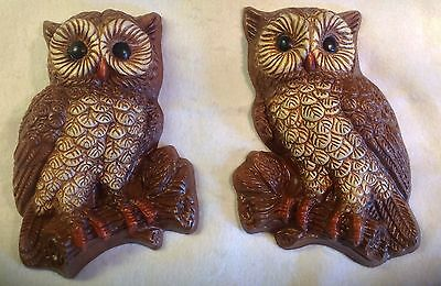 Vintage Retro Owl Wall Plaques Owl Molded Foam