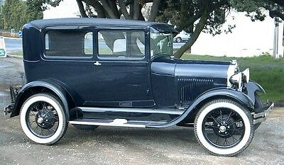Model 'A' Ford.1929 Tudor. A/4 glossy print. Free post worldwide.
