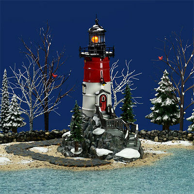 Dept 56 Snow Village® Rock Point Lighthouse BRAND NEW