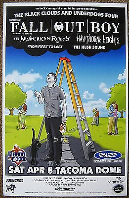 FALL OUT BOY 2006 Gig POSTER Tacoma Concert Washington