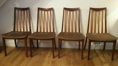 4 x Superb Vintage Mid Century Modern Teak G Plan Fresco Dining Chairs