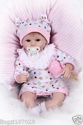 Lovely Newborn 18'' Reborn Baby Dolls Soft Silicone Vinyl Real Life Girl Gift