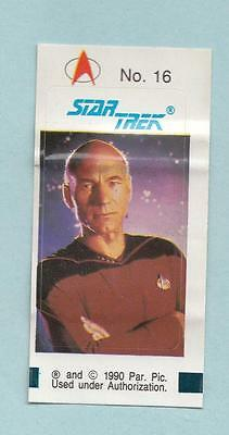 Star Trek TNG The Next Generation Bubble Gum stickers 1990 #16 Captain Picard