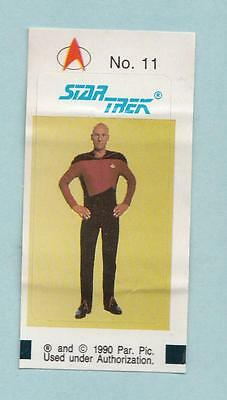 Star Trek TNG The Next Generation Bubble Gum stickers 1990 Germany Sticker #11