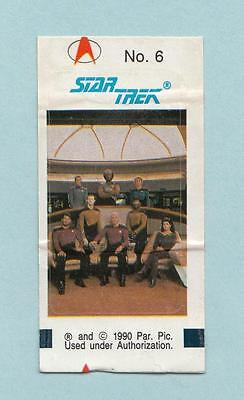 Star Trek TNG The Next Generation Bubble Gum stickers 1990 Sticker #6 The Crew