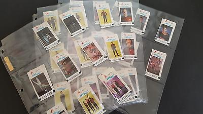 Star Trek TNG The Next Generation Bubble Gum stickers 1990 Germany Complete SET