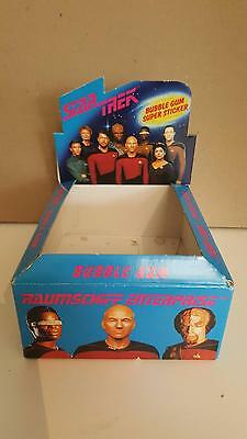 Star Trek TNG The Next Generation Bubble Gum stickers 1990 empty box frm Germany