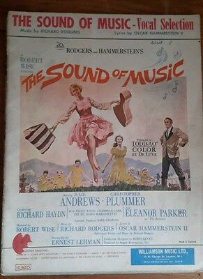 The Sound Of Music Vocal Selection Original Vintage Sheet Music