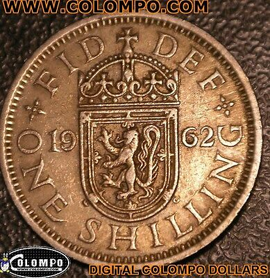 1962 One Coin Of 1 Shilling Coin Queen Elizabeth Ii, Collection, Gift