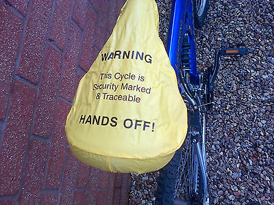 Hands off Bike Seat Cover. Helps to keep it clean, dry & safe