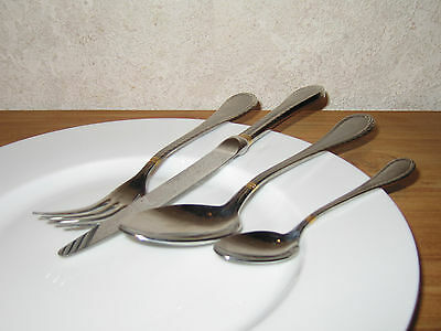 GUY DEGRENNE *NEW* CROISIERE Set 4 couverts Cutlery SATINE OR