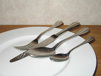GUY DEGRENNE *NEW* ARABESQUE Set 4 couverts Cutlery SATINE BRILLANT