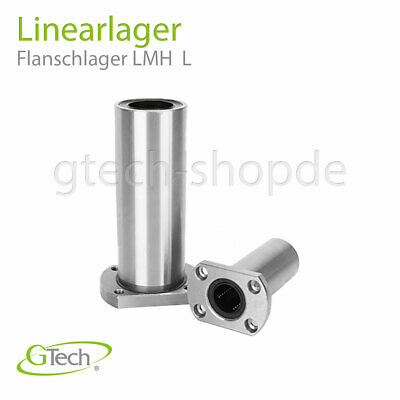 Linearlager Flanschlager Lang, 3D Drucker, CNC Reprap LMH Lager