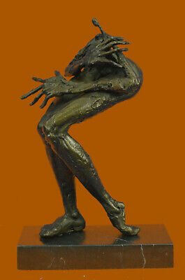 Handcrafted Bronze Sculpture 4/100 Big Hand Small Head Lady Home Office Decor