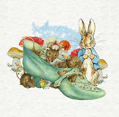Upholstery Craft Panel LemmonFabric Cushion Peter Rabbit Isolated