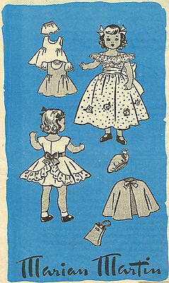 """9174-3778 Vintage Marian Martin Chubby Doll Pattern - Size 16"""" - Year 1959"""