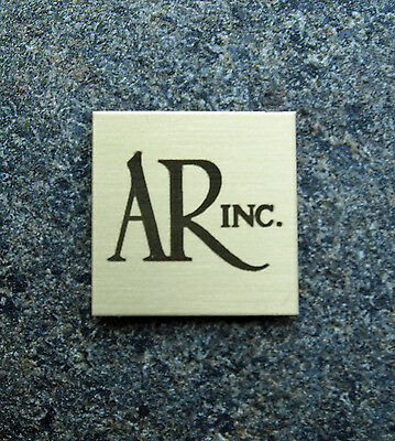 SOLID SATIN BRASS AR Acoustic Research TURNTABLE or 4x Emblem Badge Logo