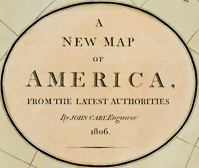 1806 Large Antique Map Chart John Cary North South America Hand-Color Folio