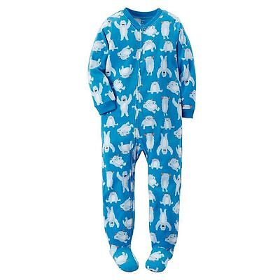 Carter's Boy Girl 1Pc Snow Monster Yeti Fleece Footed Warm Sleeper Pajamas 3T 4T