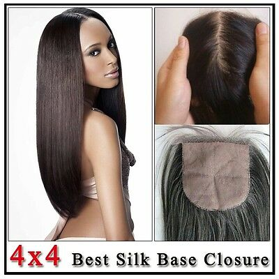Silk base closure straight 8 inches