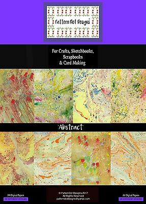 """A4 Paper Pack of Handmade Patterns; """"Abstract."""""""