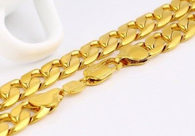 """SALE 18K YELLOW  """" Gold Filled """" 5, 10, 12 mm  HEAVY Chain Necklace Xmas 922"""