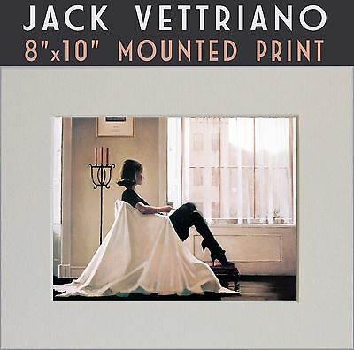 """In Thoughts of You - Jack Vettriano Mounted Art Print 10"""" x 8"""" Genuine 2016©"""