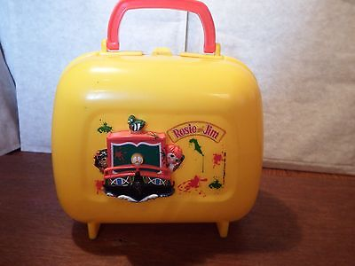RARE Rosie and Jim narrow boat canal boat lunchbox plastic Ragdoll Limited 2000