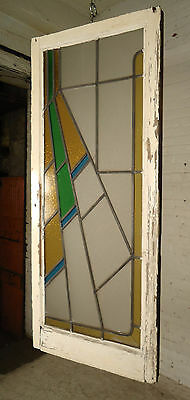 Antique Vintage Hanging Stained Glass Panel